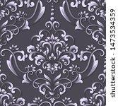 vector damask seamless pattern... | Shutterstock .eps vector #1473534359
