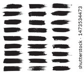 vector black paint ink brush... | Shutterstock .eps vector #1473534473