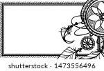 dreamcatcher boho doodle frame , feather ethnic cather of dreams spiritual simbol . vector illustration