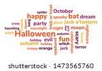 halloween text word cloud...   Shutterstock .eps vector #1473565760