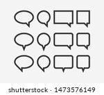 set talk bubbles speech vector. ...   Shutterstock .eps vector #1473576149
