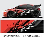 rally car decal graphic wrap... | Shutterstock .eps vector #1473578063