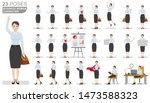 business woman character set.... | Shutterstock .eps vector #1473588323