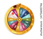 bright golden wheel of fortune... | Shutterstock .eps vector #1473600746