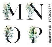Floral Alphabet  Letters M  N ...