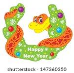 christmas snake | Shutterstock .eps vector #147360350