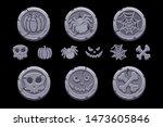 game stone coin. set vector...