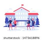 back to school   flat design... | Shutterstock .eps vector #1473618896