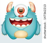 smiling monster | Shutterstock .eps vector #147362213