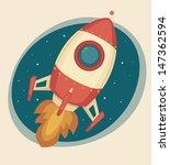 retro rocket | Shutterstock .eps vector #147362594