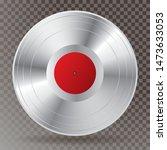 realistic platinum vinyl plate...   Shutterstock .eps vector #1473633053