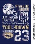 american football   vintage... | Shutterstock .eps vector #147366890