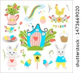 big collection of easter... | Shutterstock . vector #1473669020