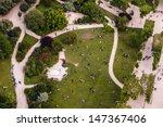 aerial view on champs de mars...   Shutterstock . vector #147367406