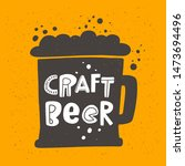 Craft Beer Flat Vector Banner...