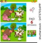 cartoon illustration of finding ... | Shutterstock .eps vector #1473701699