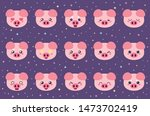 colorful vector set of small... | Shutterstock .eps vector #1473702419