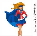 woman super hero. vector... | Shutterstock .eps vector #147372110