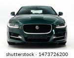 Jaguar Car On White Background