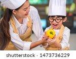 portrait cute little asian...   Shutterstock . vector #1473736229