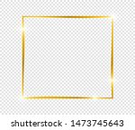gold shiny glowing frame with... | Shutterstock .eps vector #1473745643