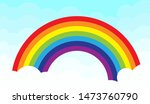rainbow images floating on the... | Shutterstock .eps vector #1473760790