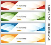 vector colorful website banners - stock vector