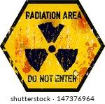 radiation area warning sign ... | Shutterstock .eps vector #147376964