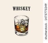 Whiskey Glass. Hand Drawn Drink ...