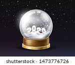 Shining  Glass Snow Globe With...