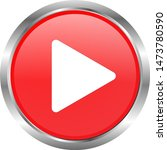 red play button icon 3d.... | Shutterstock .eps vector #1473780590