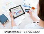 young caucasian businesswoman... | Shutterstock . vector #147378320