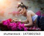Portrait Beautiful Woman In...