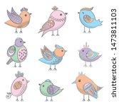 Bird Icon Set  Vector And...