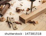 close up  of a carpenter...
