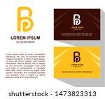premium vector b logo in one...   Shutterstock .eps vector #1473823313