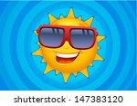 vector sun character in blue  ... | Shutterstock .eps vector #147383120