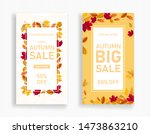 Vertical Banner Of Autumn Sale. ...