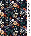 colorful floral seamless... | Shutterstock .eps vector #1473882530