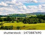 landscape shot of Blackburn, Darwen and Tockholes, lancashire, Uk, with Darwen (Jubilee) tower in the background.