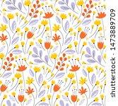 vector seamless pattern. pretty ... | Shutterstock .eps vector #1473889709