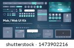 flat mobile web ui kit.... | Shutterstock .eps vector #1473902216