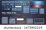 flat mobile web ui kit.... | Shutterstock .eps vector #1473902219