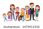 Big Family Together Vector...