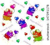 balloons. hearts. illustration.   Shutterstock . vector #147391178