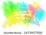 watercolor background abstarct...   Shutterstock .eps vector #1473927500