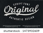 original. hand made script... | Shutterstock .eps vector #1473932609