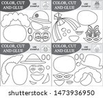 cut and glue clowns  coloring... | Shutterstock .eps vector #1473936950
