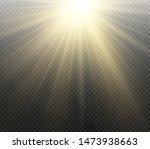 yellow glowing light burst... | Shutterstock .eps vector #1473938663