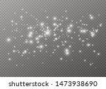 white sparks and golden stars... | Shutterstock .eps vector #1473938690